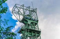 Mines tower Zeche Carl Funke city of Essen. Conveying coal mine tower on a disused coal mines as a memorial Royalty Free Stock Photography