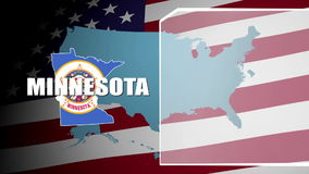 Minesota Countered Flag and Information Panel stock footage