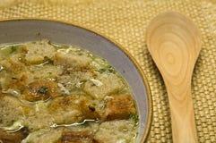 Minestra 1 dell'aglio Fotografie Stock