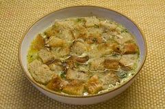Minestra 2 dell'aglio Fotografia Stock