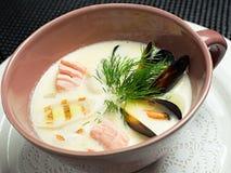 Minestra, alimento giapponese Fotografia Stock