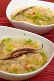 minestra Caldo-e-acida del gamberetto Immagini Stock