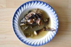 Minestra capa del pesce Fotografia Stock Libera da Diritti