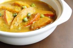 Minestra cinese del curry del ââpumpkin dell'alimento Fotografie Stock Libere da Diritti