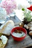 Minestra con i funghi Immagine Stock Libera da Diritti