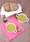 Minestra con il broccolli Immagini Stock