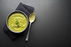 Minestra con la verdura e le erbe Fotografie Stock Libere da Diritti
