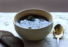 Minestra con le polpette della lenticchia Fotografie Stock