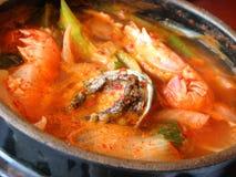 Minestra coreana dei frutti di mare Fotografie Stock Libere da Diritti