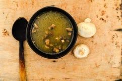 Minestra crema con i funghi Fotografie Stock Libere da Diritti