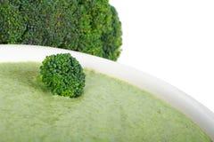 Minestra crema del broccolo immagine stock libera da diritti