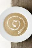 Minestra crema del fungo con crema Fotografia Stock Libera da Diritti