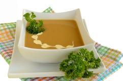 Minestra crema di verdure in una ciotola bianca Fotografia Stock Libera da Diritti