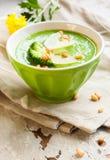 Minestra cremosa dei broccoli Immagine Stock