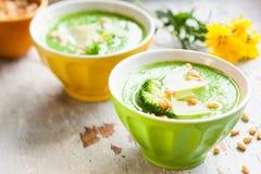Minestra dei broccoli Fotografia Stock Libera da Diritti