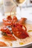 Minestra dei frutti di mare con i granchi Fotografie Stock