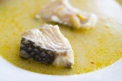Minestra dei pesci fotografie stock libere da diritti