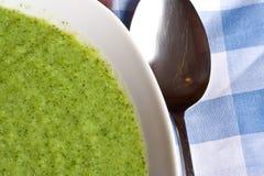 Minestra del broccolo Immagini Stock