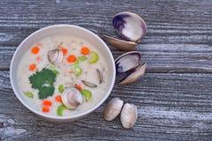 Minestra del chowder di mollusco Fotografia Stock