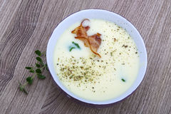 Minestra del formaggio Fotografia Stock Libera da Diritti