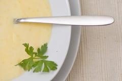 Minestra del formaggio cheddar Immagini Stock