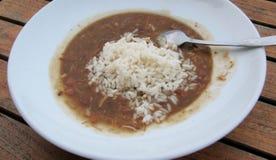 Minestra del gombo, alimento del sud in U.S.A. fotografia stock