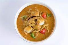 Minestra del pepe del pollo del curry Immagini Stock
