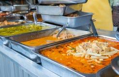 Minestra del peperoncino rosso del pollo, alimento tailandese pronto immagine stock libera da diritti
