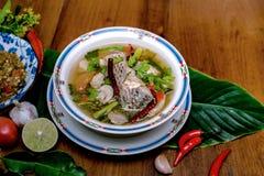 Minestra del pesce, alimento tailandese Fotografia Stock Libera da Diritti