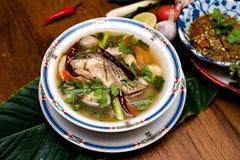 Minestra del pesce, alimento tailandese Fotografia Stock