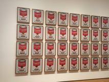 Minestra del ` s di Campbell da Andy Warhol Fotografie Stock