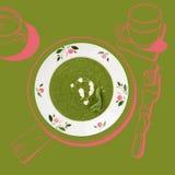 Minestra deliziosa degli spinaci royalty illustrazione gratis