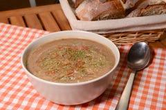 Minestra deliziosa della crema della lenticchia Immagini Stock Libere da Diritti