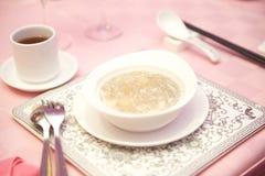 Minestra dell'asparago del granchio con tè Immagine Stock Libera da Diritti
