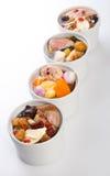 Minestra dell'erba e del pollo, stile cinese dell'alimento. Fotografia Stock