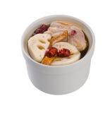 Minestra dell'erba e del pollo, stile cinese dell'alimento. fotografie stock