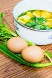 Minestra dell'omelette Immagine Stock Libera da Diritti