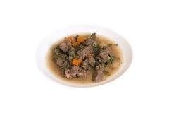 Minestra della carne Fotografia Stock