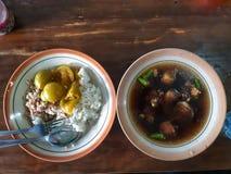 Minestra della carne di East Java fotografia stock