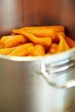 Minestra della carota Fotografie Stock Libere da Diritti