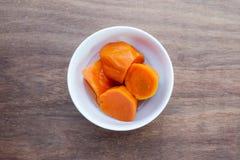 Minestra della patata dolce Minestra asiatica del dessert di stile immagini stock libere da diritti