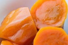 Minestra della patata dolce Minestra asiatica del dessert di stile fotografia stock