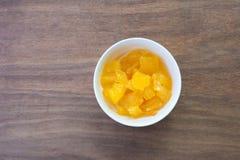 Minestra della patata dolce Minestra asiatica del dessert di stile immagini stock