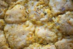 Minestra della verdura fresca con gli gnocchi del pollo fotografia stock