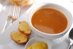 minestra della zucca Fotografia Stock Libera da Diritti