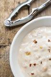 Minestra della zuppa di cereale e del granchio Fotografia Stock
