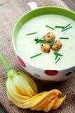 Minestra dello zucchini Fotografie Stock