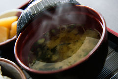 Minestra di miso Fotografia Stock