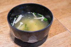 Minestra di miso, alimento giapponese Fotografie Stock Libere da Diritti