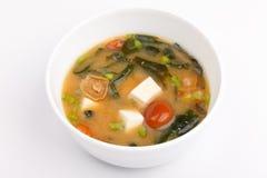 Minestra di miso, cucina giapponese, ciotola Immagine Stock